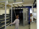 Kammer-Pulvereinbrennofen mit Flügeltüren, indirekt Öl beheizt