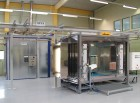 Pulverbeschichtungsanlage für Papierschneidemaschinen